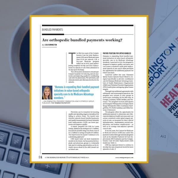 Are Orthopedic Bundled Payment Working?