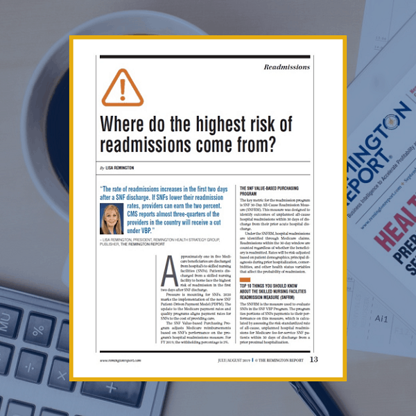 Where Do the Highest Risk of Readmissions Come From?