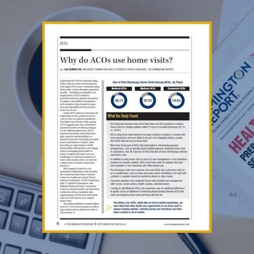 Why Do ACOs Use Home Visits?