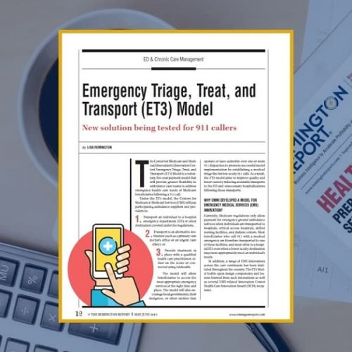Emergency Triage, Treat, and Transport (ET3) Model