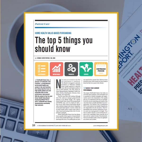 Home Health Value-Based Purchasing: The Top 5 Things You Should Know
