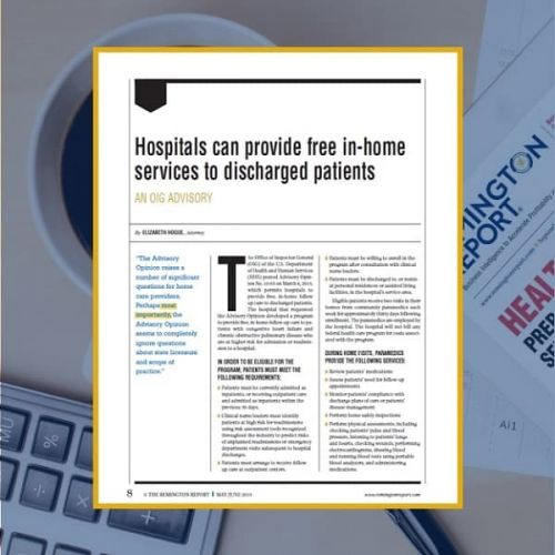 Hospitals Can Provide Free In-Home Services to Discharged Patients