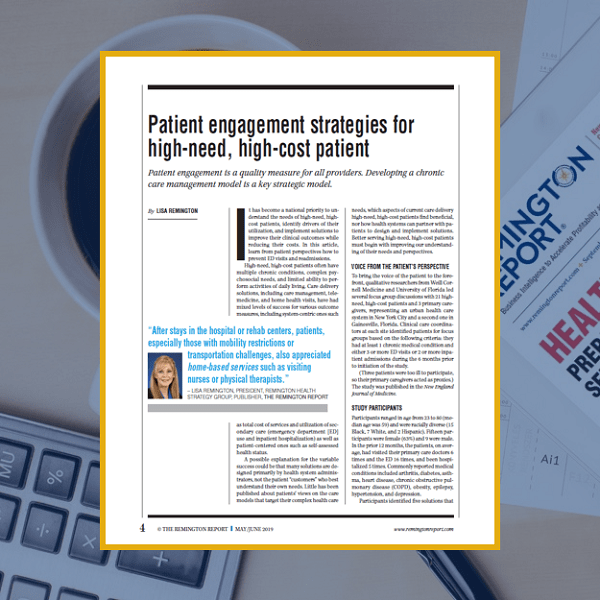 Patient Engagement Strategies for High-Need, High-Cost Patients