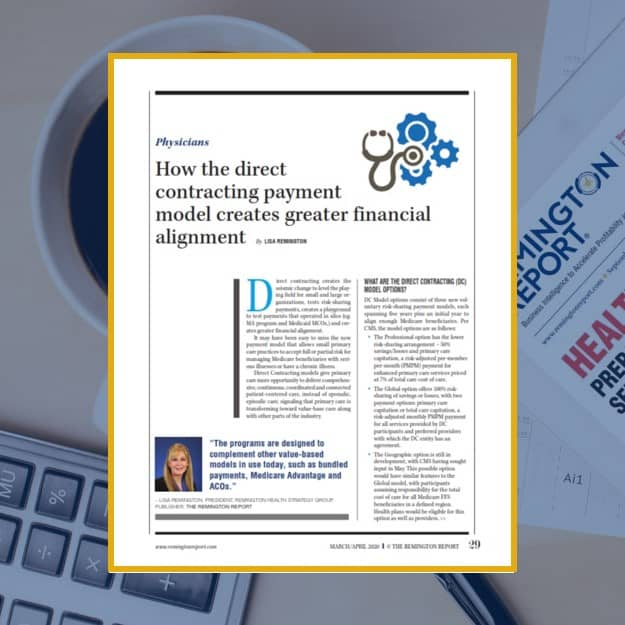 How the Direct Contracting Payment Model Creates Greater Financial Alignment
